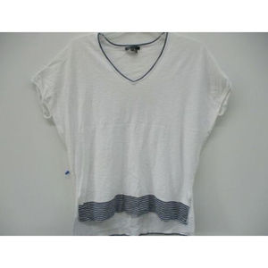 Vince Womens Tee Shirt Short Sleeves White Size Sm